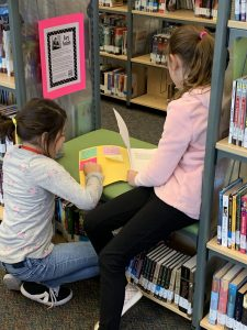 Students reading and enjoying the display of 5th Grade stories.  Thank you Mrs. Kinnaman for allowing the Media Center to display these terrific stories!