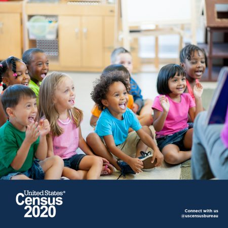 April 1, 2020 is Census Day!  Make sure your family is counted!